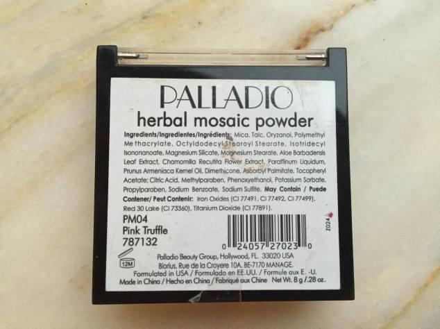 Palladio herbal mosaic powder in pink truffle